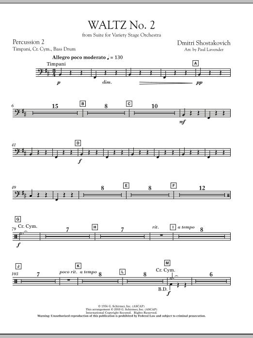 Waltz No. 2 - Percussion 2 (Orchestra)