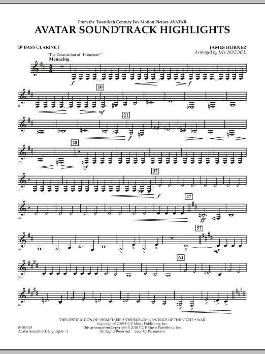 Avatar Soundtrack Highlights - Bb Bass Clarinet (Concert Band)