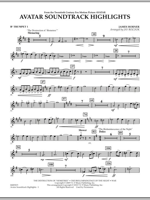 Avatar Soundtrack Highlights - Bb Trumpet 1 (Concert Band)