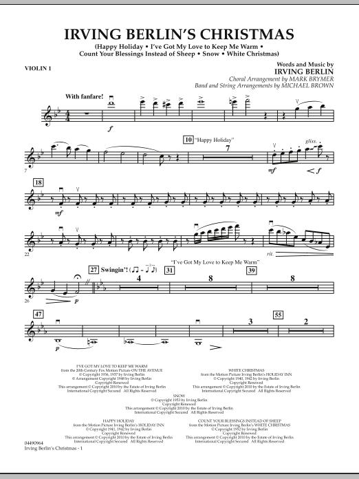 Irving Berlin's Christmas (Medley) - Violin 1 (Orchestra)