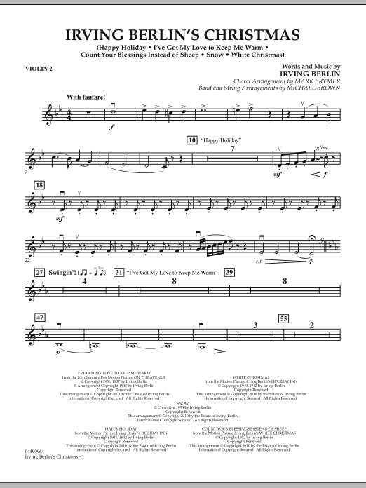 Irving Berlin's Christmas (Medley) - Violin 2 (Orchestra)