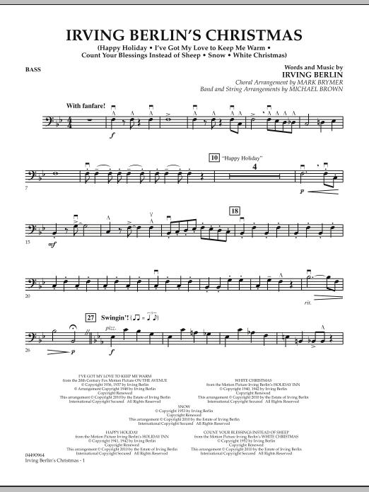 page one of Irving Berlin's Christmas (Medley) - BassASALTTEXT