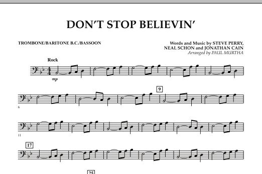 Don't Stop Believin' - Trombone/Baritone B.C./Bassoon (Concert Band)