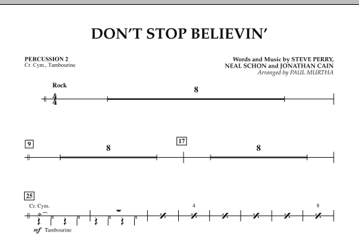 Don't Stop Believin' - Percussion 2 (Concert Band)