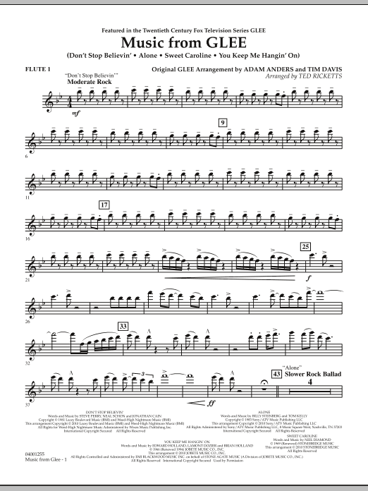 Music from Glee - Flute 1 (Concert Band)