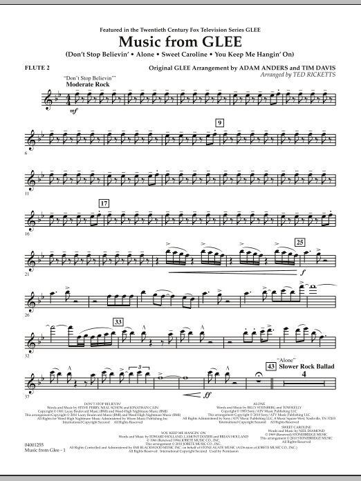 Music from Glee - Flute 2 (Concert Band)
