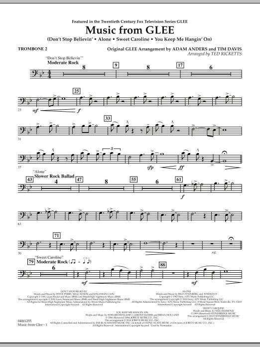 Music from Glee - Trombone 2 (Concert Band)