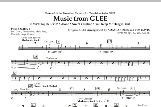 Music from Glee - Percussion 2 (Concert Band)