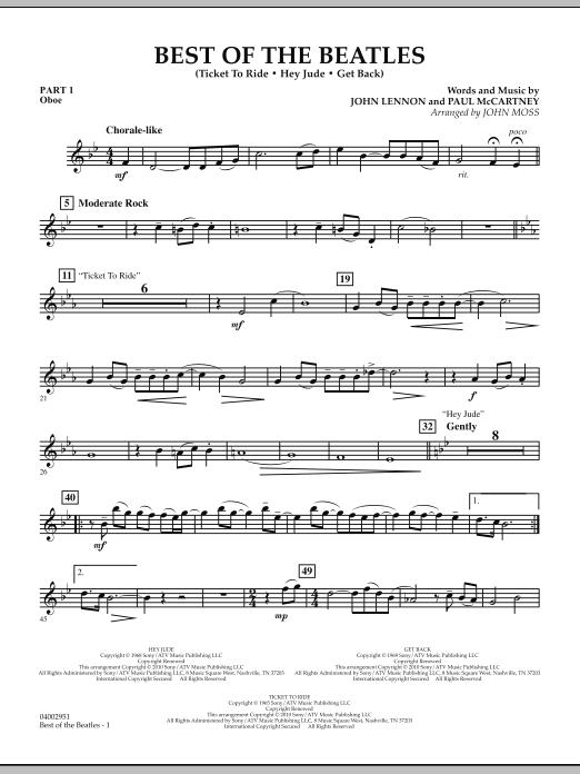 Best of The Beatles (arr. John Moss) - Pt.1 - Oboe (Concert Band: Flex-Band)