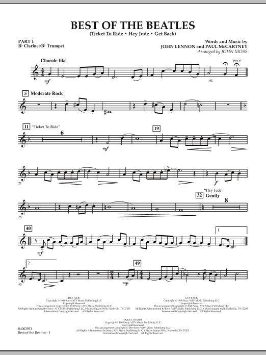 Best of The Beatles (arr. John Moss) - Pt.1 - Bb Clarinet/Bb Trumpet (Concert Band: Flex-Band)
