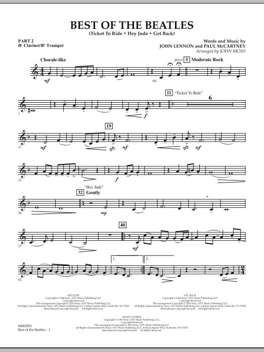 Best of The Beatles (arr. John Moss) - Pt.2 - Bb Clarinet/Bb Trumpet (Concert Band: Flex-Band)