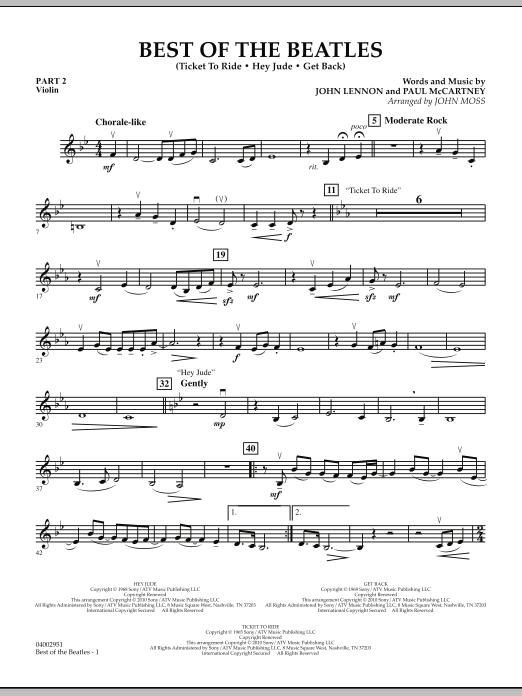 Best of The Beatles (arr. John Moss) - Pt.2 - Violin (Concert Band: Flex-Band)