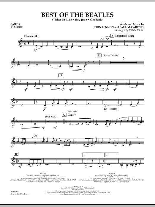 Best of The Beatles (arr. John Moss) - Pt.3 - Bb Clarinet (Concert Band: Flex-Band)