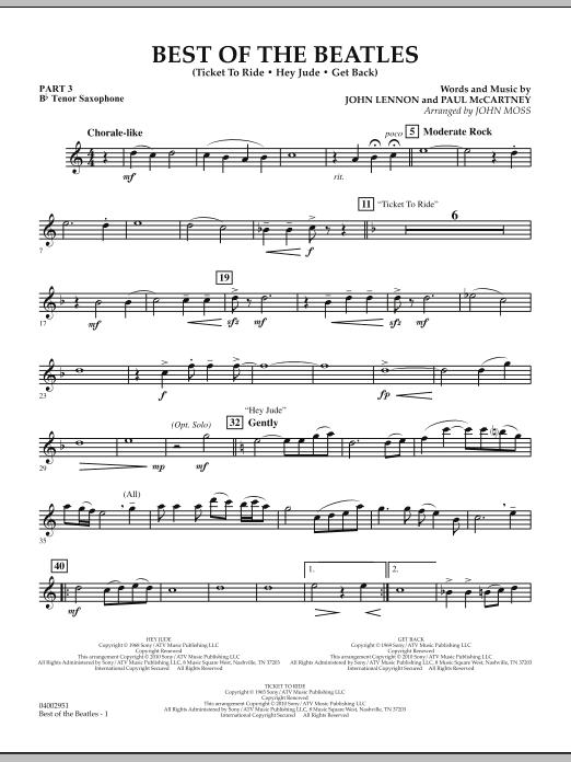 Best of The Beatles (arr. John Moss) - Pt.3 - Bb Tenor Saxophone (Concert Band: Flex-Band)