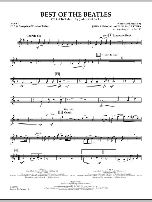 Best of The Beatles (arr. John Moss) - Pt.3 - Eb Alto Sax/Alto Clar. (Concert Band: Flex-Band)