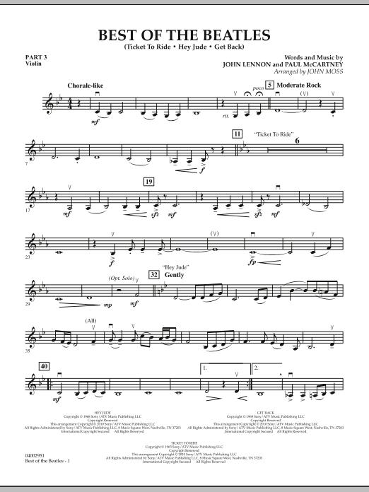 Best of The Beatles (arr. John Moss) - Pt.3 - Violin (Concert Band: Flex-Band)