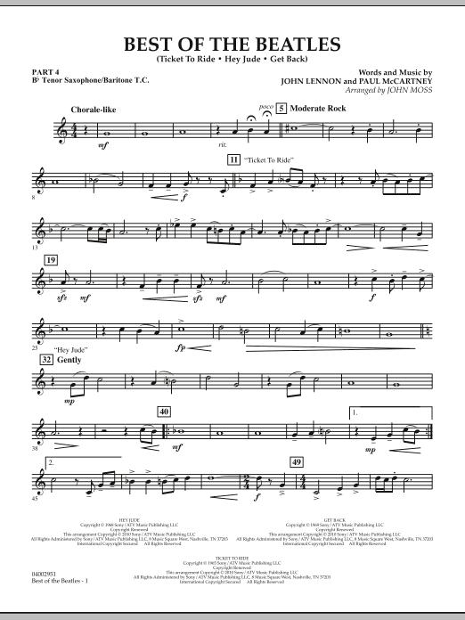 Best of The Beatles (arr. John Moss) - Pt.4 - Bb Tenor Sax/Bar. T.C. (Concert Band: Flex-Band)