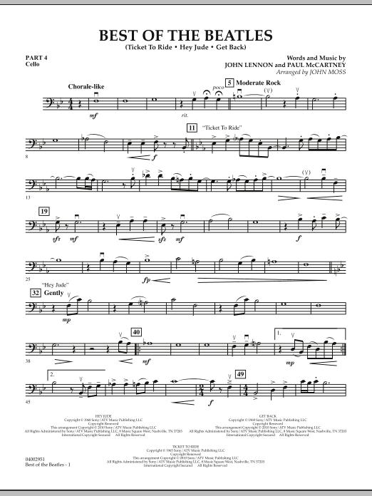 Best of The Beatles (arr. John Moss) - Pt.4 - Cello (Concert Band: Flex-Band)