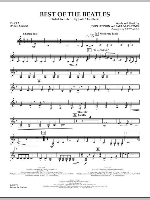 Best of The Beatles (arr. John Moss) - Pt.5 - Bb Bass Clarinet (Concert Band: Flex-Band)