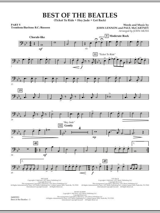 Best of The Beatles (arr. John Moss) - Pt.5 - Trombone/Bar. B.C./Bsn. (Concert Band: Flex-Band)