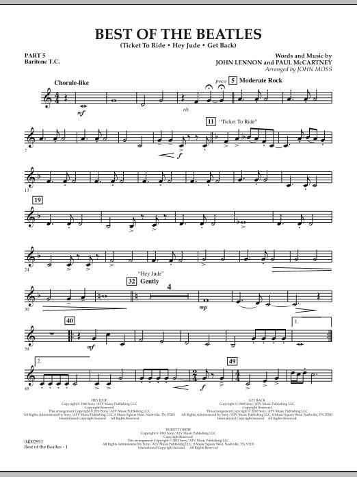 Best of The Beatles (arr. John Moss) - Pt.5 - Baritone T.C. (Concert Band: Flex-Band)