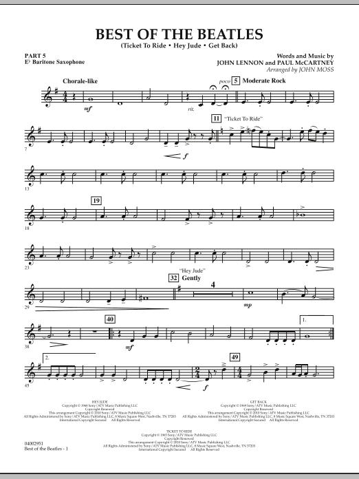 Best of The Beatles (arr. John Moss) - Pt.5 - Eb Baritone Saxophone (Concert Band: Flex-Band)