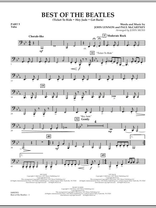 Best of The Beatles (arr. John Moss) - Pt.5 - Tuba (Concert Band: Flex-Band)