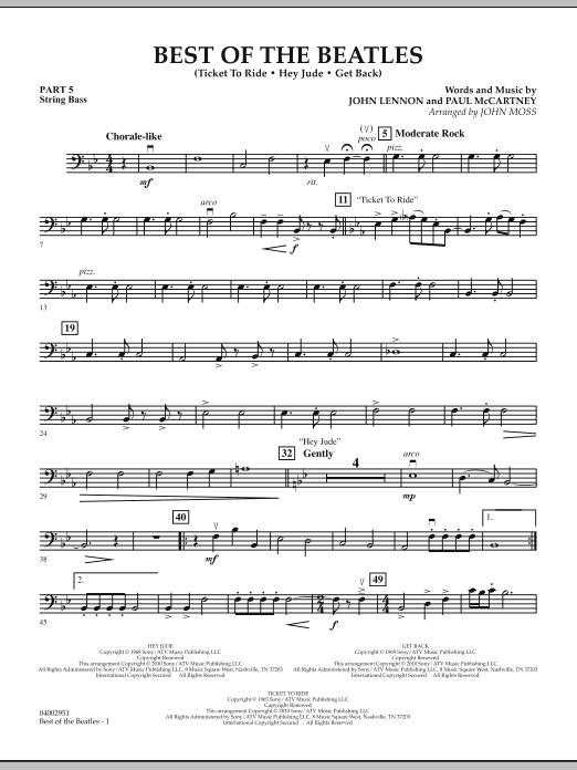 Best of The Beatles (arr. John Moss) - Pt.5 - String/Electric Bass (Concert Band: Flex-Band)