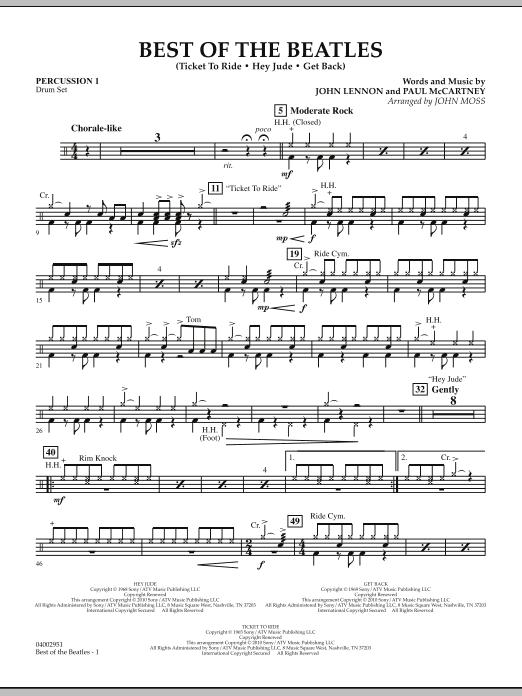 Best of The Beatles (arr. John Moss) - Percussion 1 (Concert Band: Flex-Band)