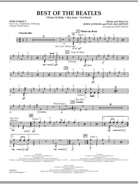 Best of The Beatles (arr. John Moss) - Percussion 2 (Concert Band: Flex-Band)