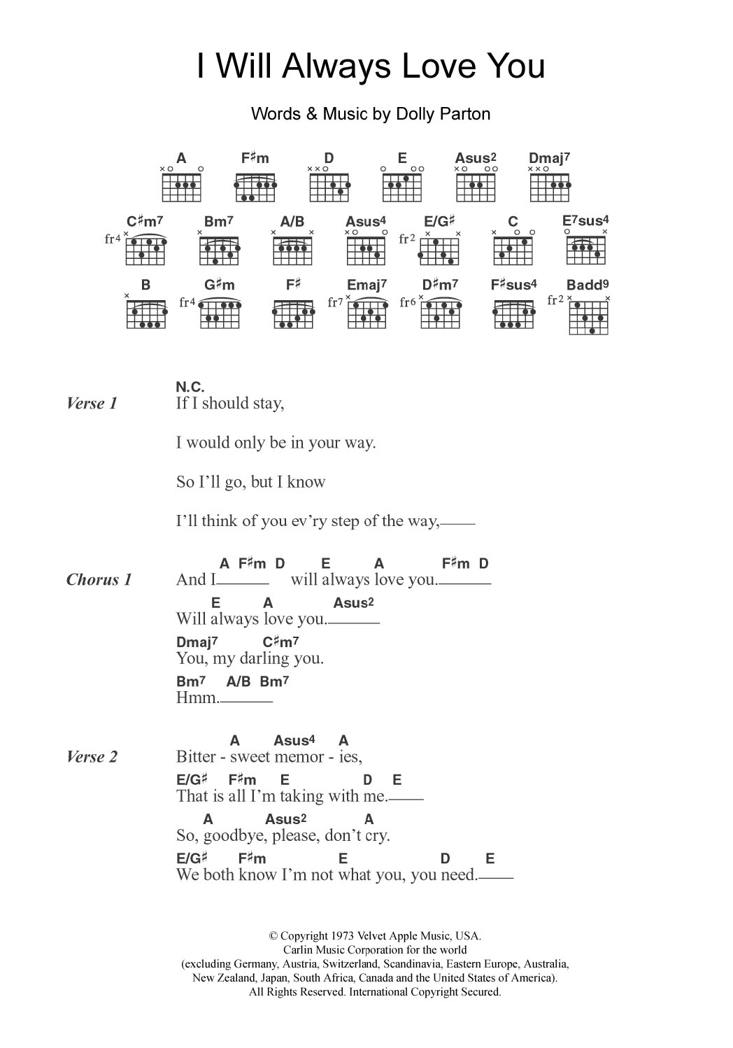Ill always love you michael johnson ukulele chords