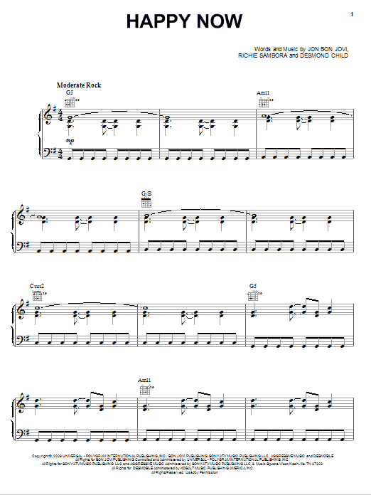 Happy Now Sheet Music