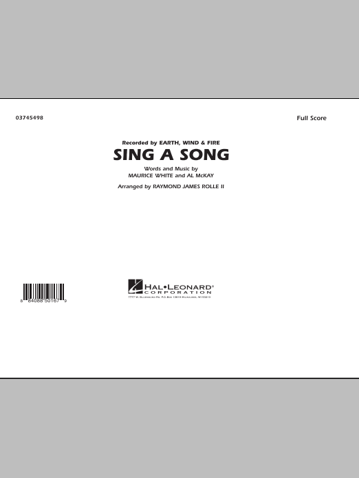 Sing A Song (COMPLETE) sheet music for marching band by Raymond James Rolle II, Al McKay, Earth, Wind & Fire and Maurice White. Score Image Preview.