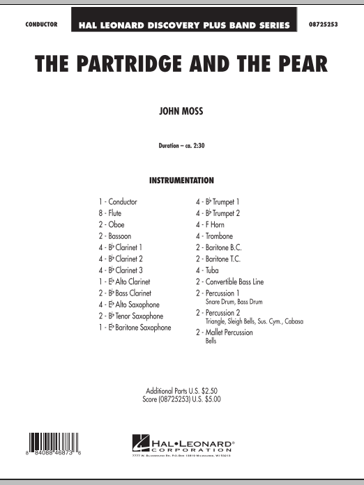 The Partridge And The Pear (COMPLETE) sheet music for concert band by John Moss. Score Image Preview.