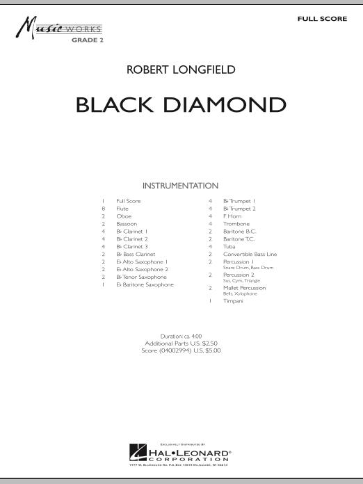 Black Diamond - Full Score (Concert Band)