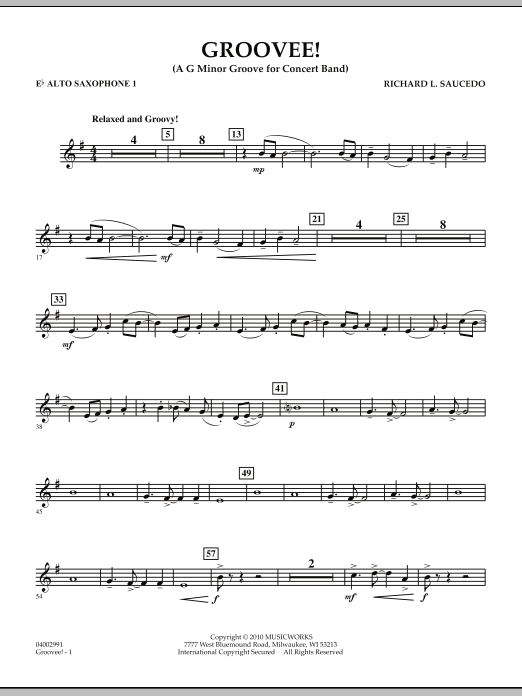 Groovee! - Eb Alto Saxophone 1 (Concert Band)