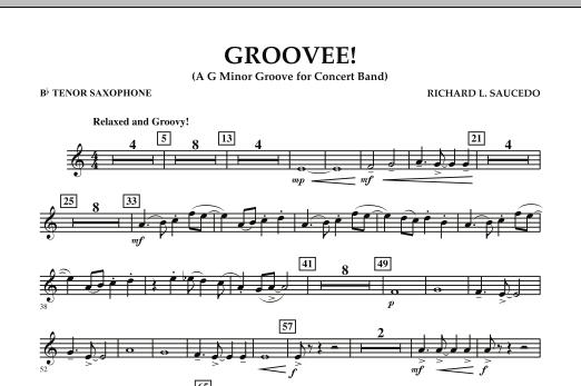 Groovee! - Bb Tenor Saxophone (Concert Band)