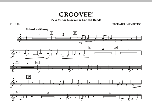 Groovee! - F Horn (Concert Band)