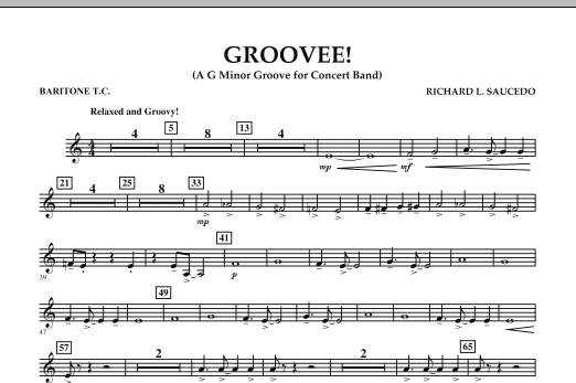 Groovee! - Baritone T.C. (Concert Band)
