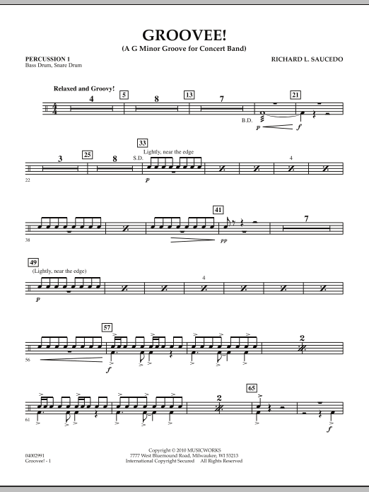 Groovee! - Percussion 1 (Concert Band)