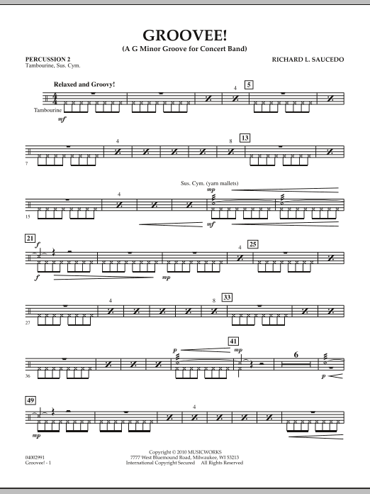 Groovee! - Percussion 2 (Concert Band)