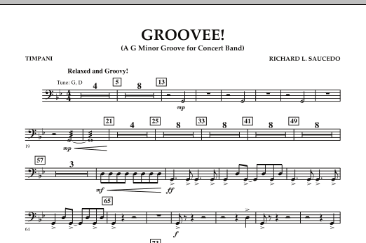 Groovee! - Timpani (Concert Band)