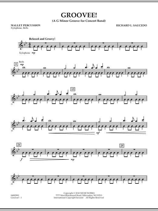Groovee! - Mallet Percussion (Concert Band)