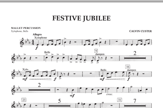 Festive Jubilee - Mallet Percussion (Concert Band)