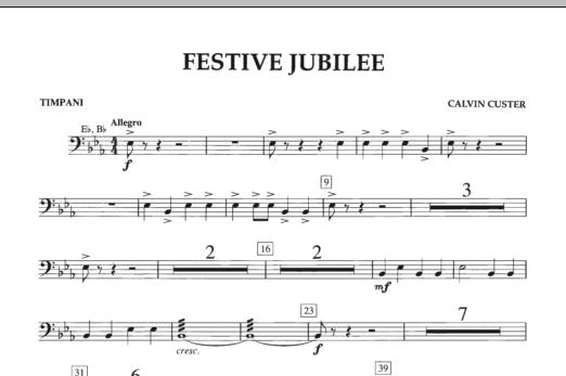Festive Jubilee - Timpani (Concert Band)