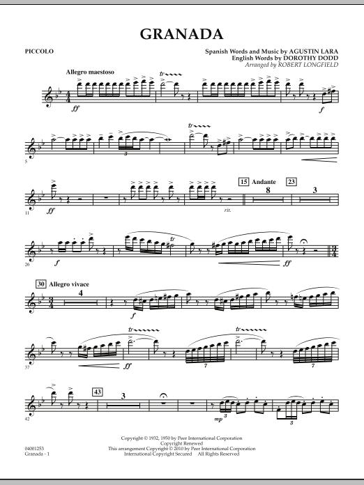 Granada - Piccolo (Concert Band)