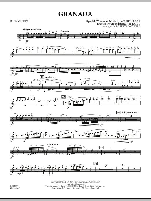 Granada - Bb Clarinet 1 (Concert Band)