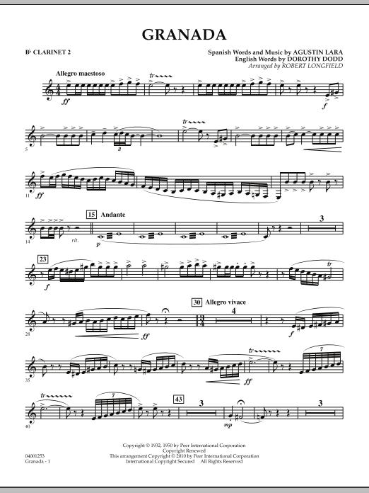 Granada - Bb Clarinet 2 (Concert Band)