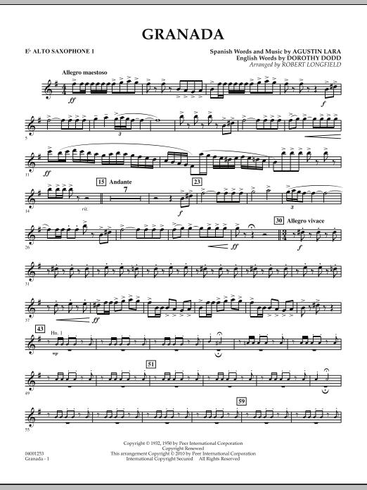 Granada - Eb Alto Saxophone 1 (Concert Band)