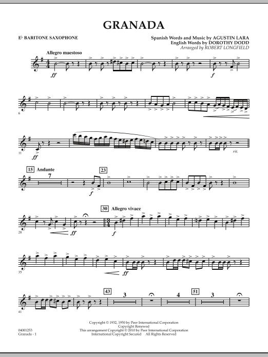 Granada - Eb Baritone Saxophone (Concert Band)